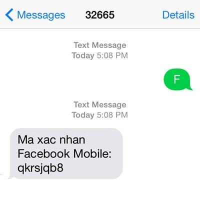 lay ma xac nhan facebook bang dien thoai