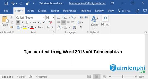 meo tao autotext trong word 2013 soan van ban sieu toc 2