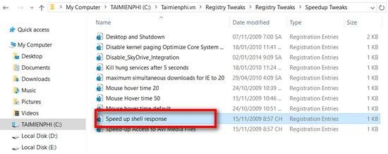 import file registry
