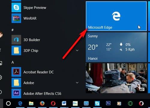 su dung IE duyet web thay microsoft edge