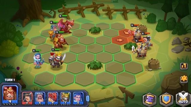 monsters tactical rumble arena game chien dau doi hinh quai vat hap dan khai mo tren ios 2