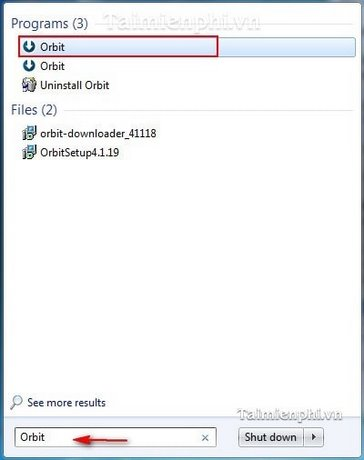Orbit Downloader - Thay đổi ngôn ngữ giao diện