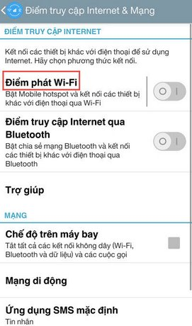 phat wifi dien thoai android sang laptop