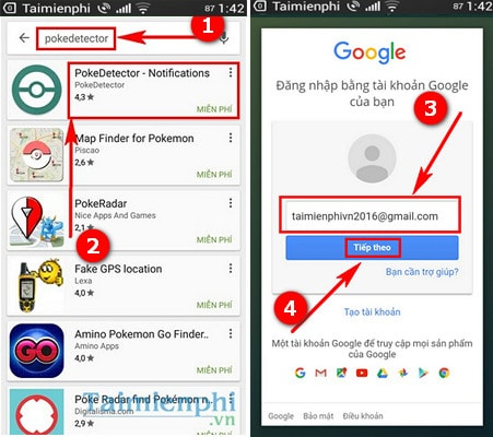 pokedetector ung dung thong bao pokemon dang o gan ban