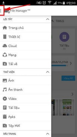 quan ly du lieu android bang file manager