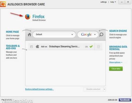 Quản lý và giám sát trình duyệt với Auslogics Browser Care