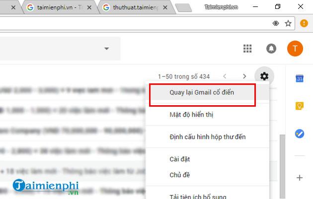 quay ve giao dien gmail cu