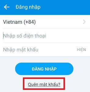 quen mat khau zalo