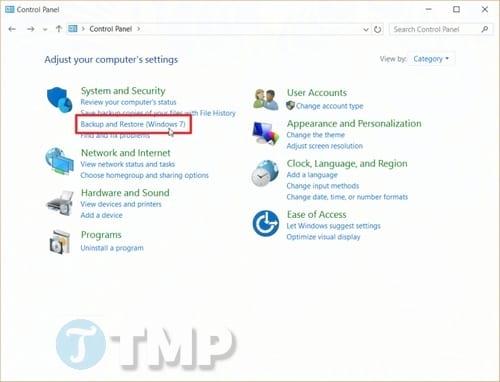 Sao lưu và phục hồi Windows 10 từ System image