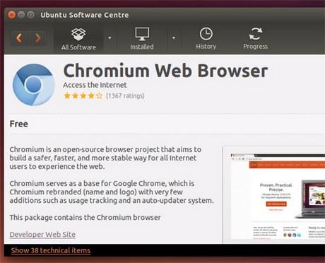 so sanh Chromium va Chrome