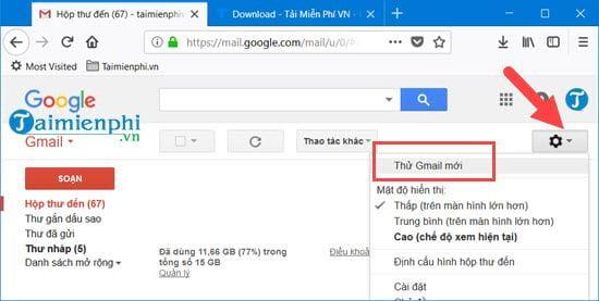 so sanh gmail moi va gmail cu 2