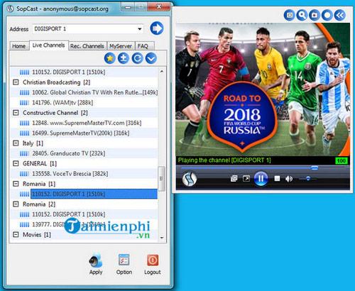 xem truc tiep world cup 2018 bang sopcast