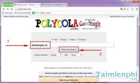 Sử dụng nhiều công cụ tìm kiếm trên trình duyệt cùng lúc