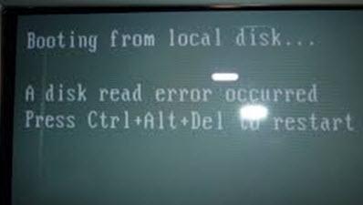 sua loi A disk read error occurred. Press ctrl alt del to restart windows XP 7, A disk read error occurred, ress ctrl alt del to restart windows XP 7