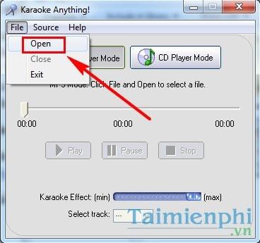 Tách lời, tạo nhạc beat, karaoke, ghi âm bài hát bằng Karaoke Anything 1