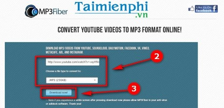 cach tai video nhac youtube bang mp3fiber