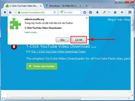 huong dan tai video youtube bang add ons tren firefox