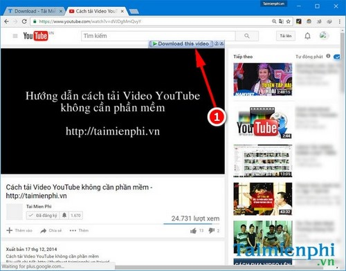 tai video youtube bang idm tren google chrome