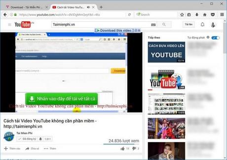 Tải video Youtube bằng phần mềm IDM, Download video bằng IDM