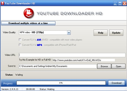 Cach tai video youtube bang Youtube Downloader HD