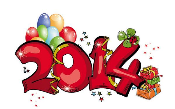 Hình nền máy tính tết 2014 chào đón năm mới