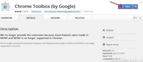 Tạo cảnh báo, đóng nhiều tab trên Google Chrome giống như Firefox