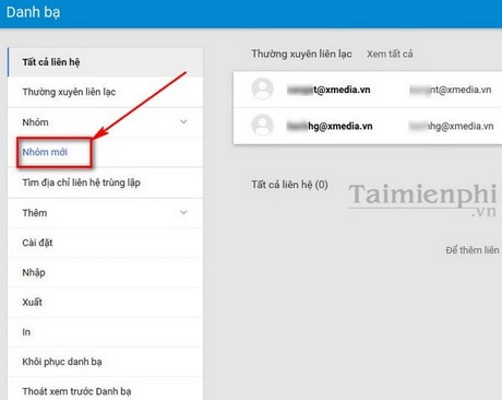 tao group trong gmail