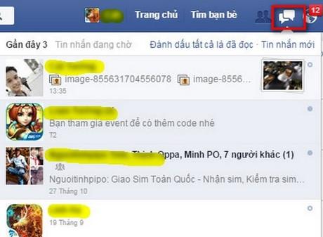 gui nut like to dan trong tin nhan facebook