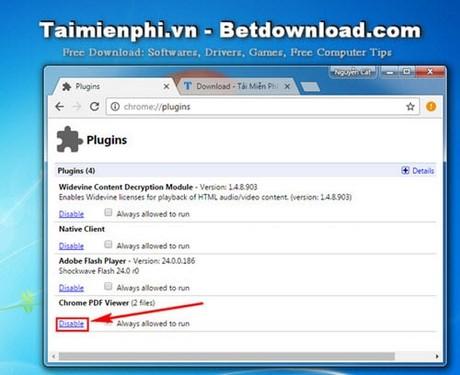 Tắt tính năng đọc file PDF trên Google Chrome