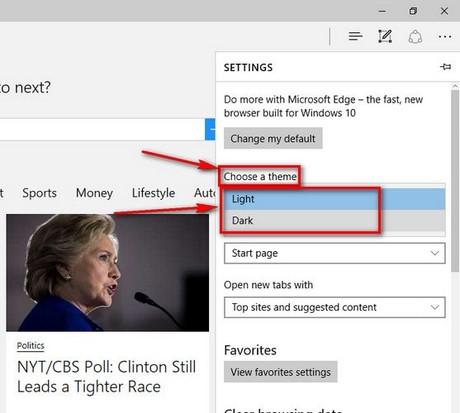 Cách đổi giao diện, thay theme Microsoft Edge