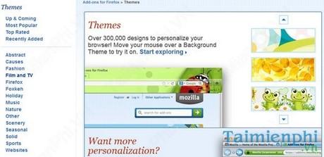 Đổi hình nền trình duyệt web Firefox
