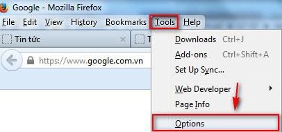 thay doi thu muc chua file download trong firefox