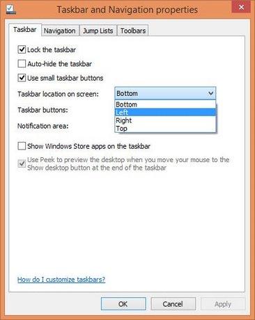 thay doi taskbar windows