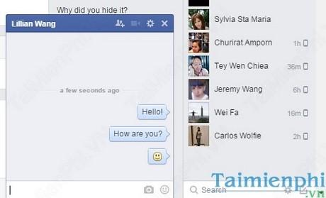 them bieu tuong, icon khi chat tren facebook