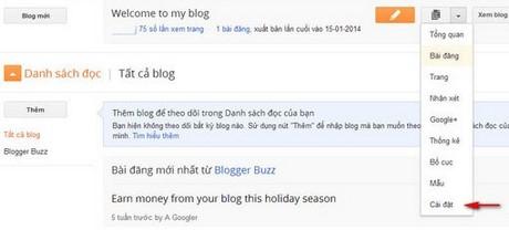 them tai khoan quan tri trong blogger