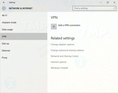 thiet lap vpn tren windows 10 2
