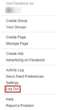 Cách thoát facebook trên máy tính, đăng xuất facebook từ máy tính