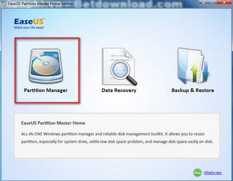 tim bad o cung bang EaseUS Partition Master Home Edition