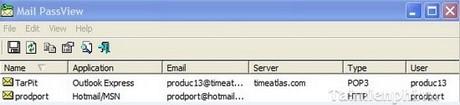 Tìm lại Password cho Email bằng Mail PassView
