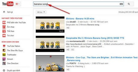 tim kiem chinh xac tren youtube