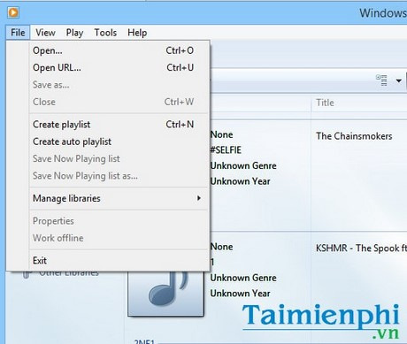 phim tat full trong windows media player