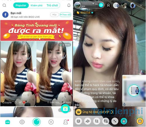 top kenh live stream duoc yeu thich nhat 2