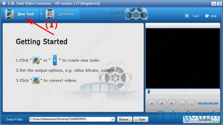 Direction converts audio to ac3 with the total video converter
