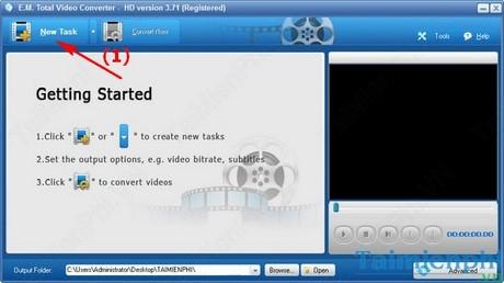 huong dan chuyen am thanh sang ac3 bang total video converter
