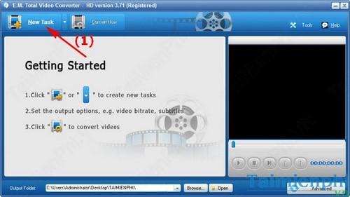 chuyen doi audio sang wav bang Total Video Converter