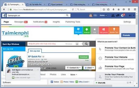 Trải nghiệm Firefox 50, đăng nhập nhiều nick facebook cùng lúc