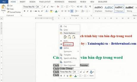 trinh bay word dep