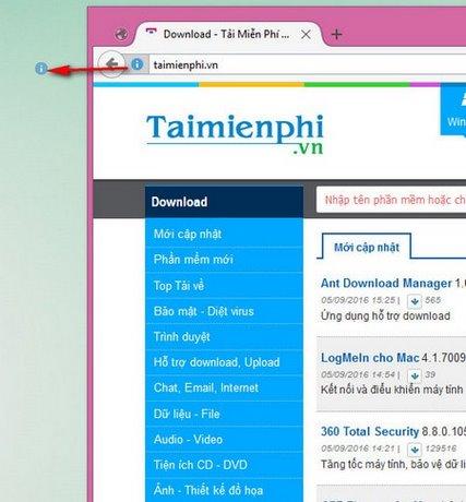 tao shortcut trang web Firefox tren deskop