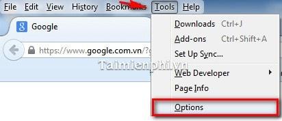 Firefox - Tự động xóa lịch sử duyệt Web của bạn sau mỗi lần duyệt