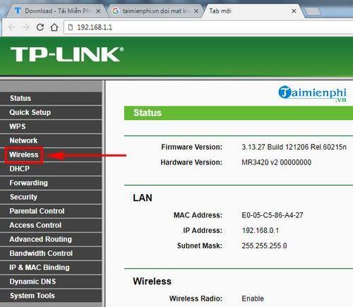 cach doi mat khau wifi tl mr3420 2